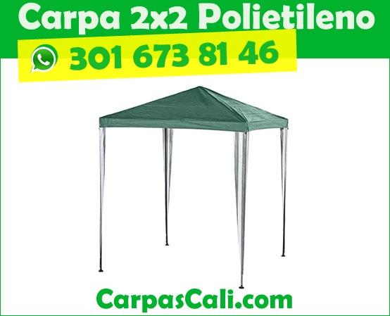 CARPA TOLDO PARASOL 2X2 POLIETILENO VERDE