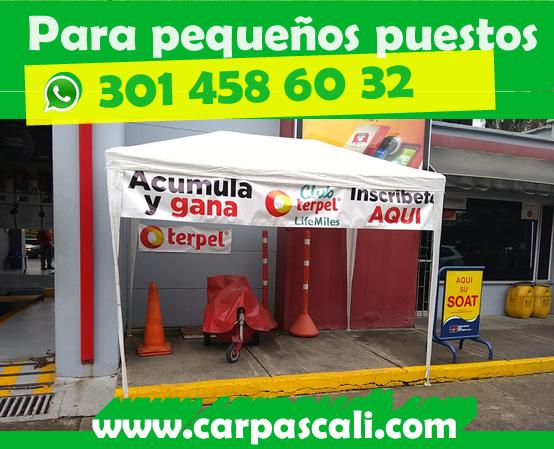 Carpa Toldo Parasol 3x3 Blanca en Polietileno Envío a Toda Colombia
