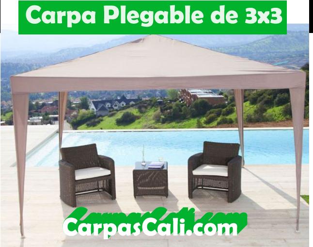 CARPA PLEGABLE DE 3X3 + TULA