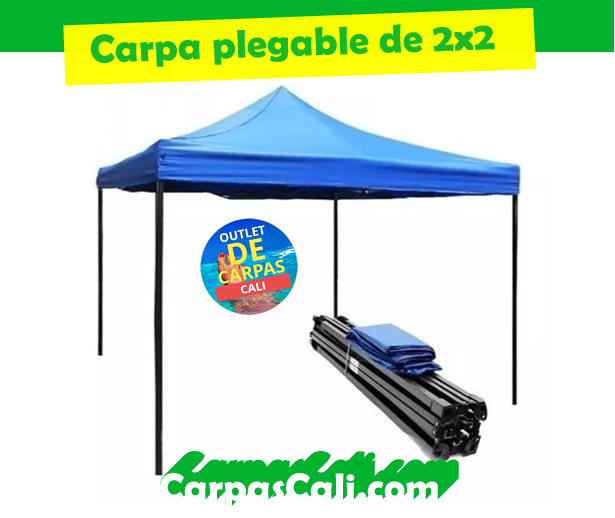 CARPA DE 2X2 PLEGABLE IMPERMEABLE