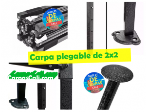 partes de carpa plegable de 2x2 impermeable