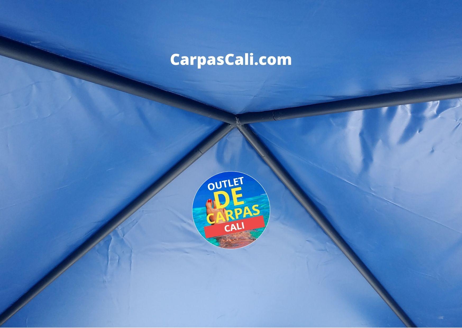 Carpas parasoles 2x2 Azul