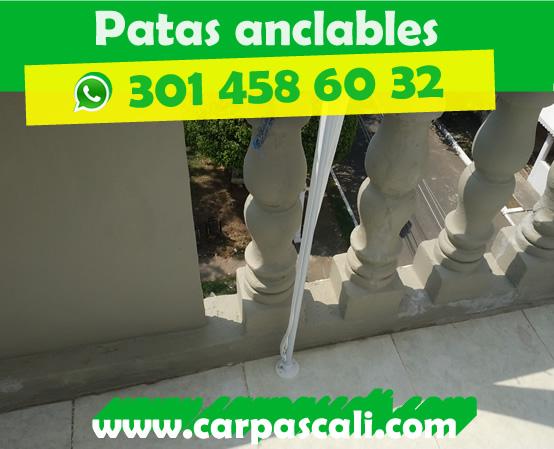 CARPA TOLDO PARASOL 2X2 POLIETILENO BLANCA