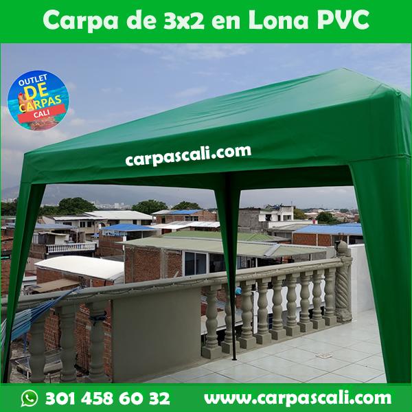 Carpas Cali 3x2 Mts Lona PVC Verde