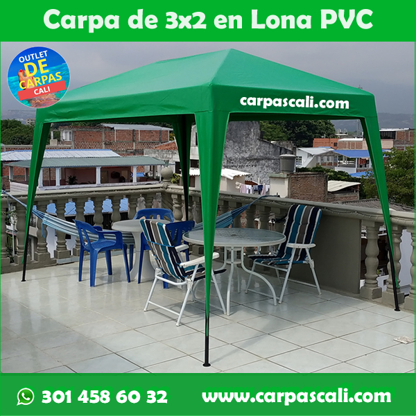 Carpa Toldo Parasol Lona Verano PVC 3×2 Mts