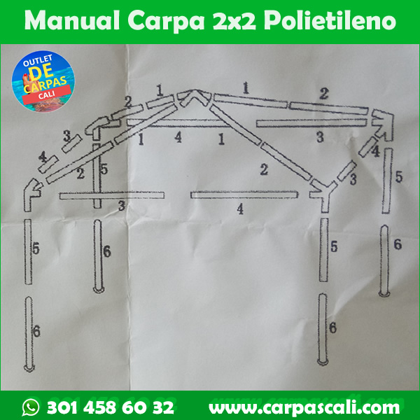 manual instructivo carpa 2x2 metros de polietileno
