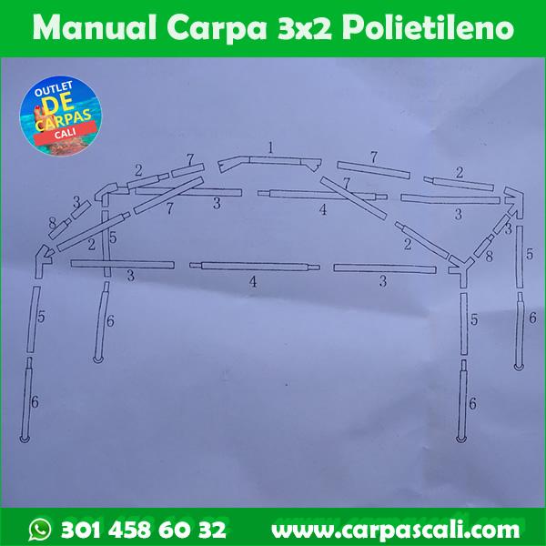 manual instructivo carpa 3x2 metros de polietileno