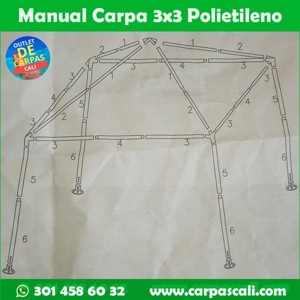 manual instructivo carpa 3x3 metros de polietileno