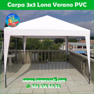 Carpa Toldo Parasol Lona Verano PVC 3×3 Mts