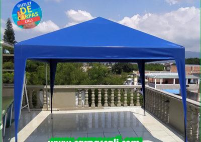 Carpa Toldo Parasol Lona Verano PVC 3x3 Mts - Azul