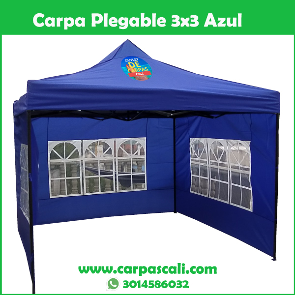 Carpa Plegable 3×3 Con Paredes Laterales