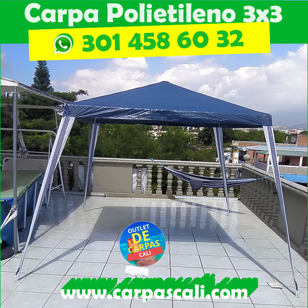 Carpa Toldo Parasol 3×3 Mts Polietileno Azul