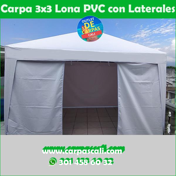 CARPA 3X3 EN LONA PVC PARA AISLAMIENTO CON PAREDES LATERALES