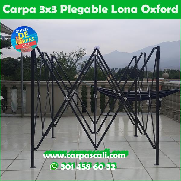 Carpa Plegable 3x3 Herraje Negro