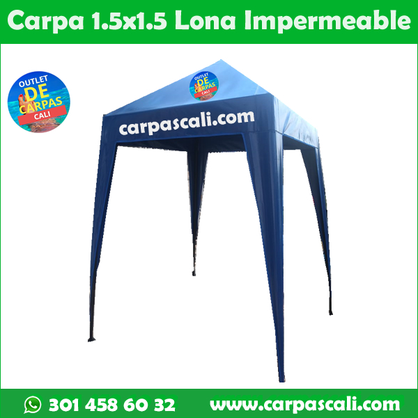 Carpa Toldo Parasol Lona Verano PVC 1.5x1.5 Mts