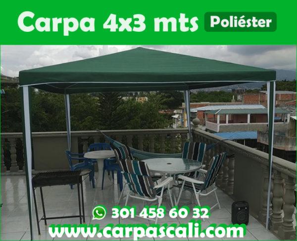 Carpa Toldo Parasol Poliéster 4x3 Mts