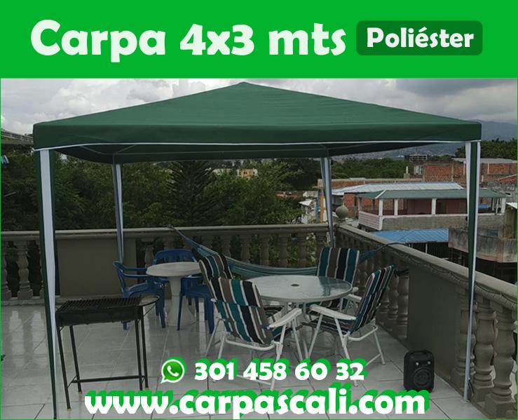 Carpa Toldo Parasol Poliéster 4×3 Mts