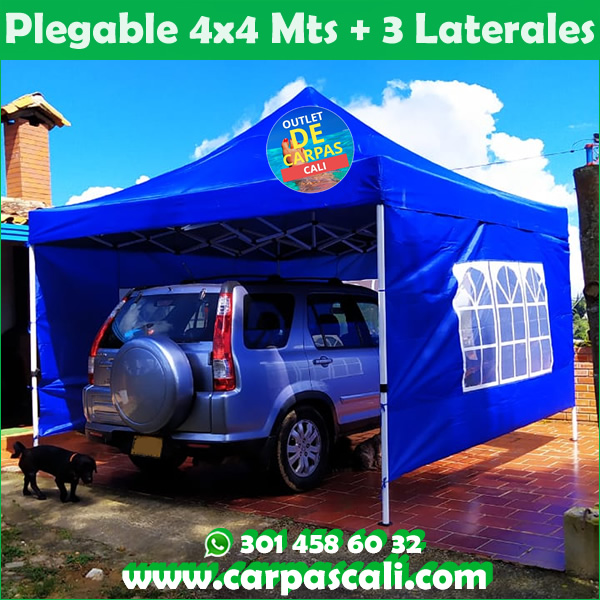Carpa Plegable 4×4 con Filtro UV Herraje Blanco