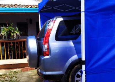 Carpa Plegable 4x4 con Filtro UV Herraje Blanco