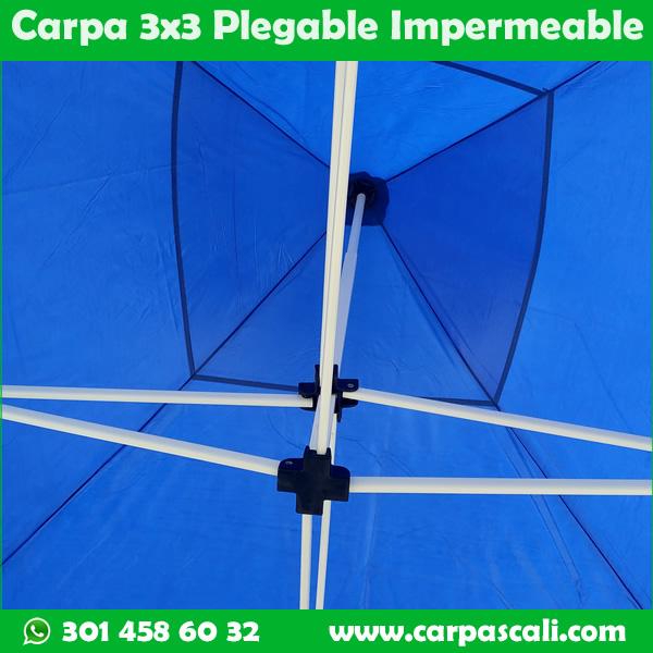 Carpa Plegable 3x3 Herraje Blanco