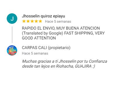 Comentario sobre Carpas Cali de Jhosselin Quiroz Epiayu