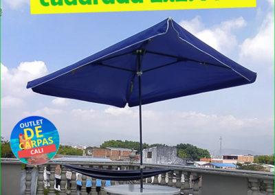Sombrilla Parasol Cuadrada 2x2.4 Mts en Lona