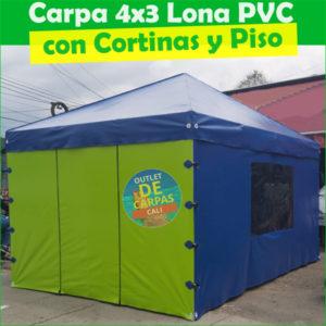 Carpa Toldo Parasol Lona Verano PVC 4×3 Mts