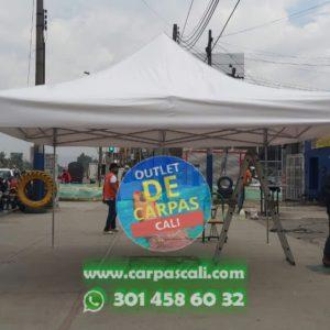Carpa Plegable 4x4 con Lona PVC de Fabricación Nacional (Colombiana)