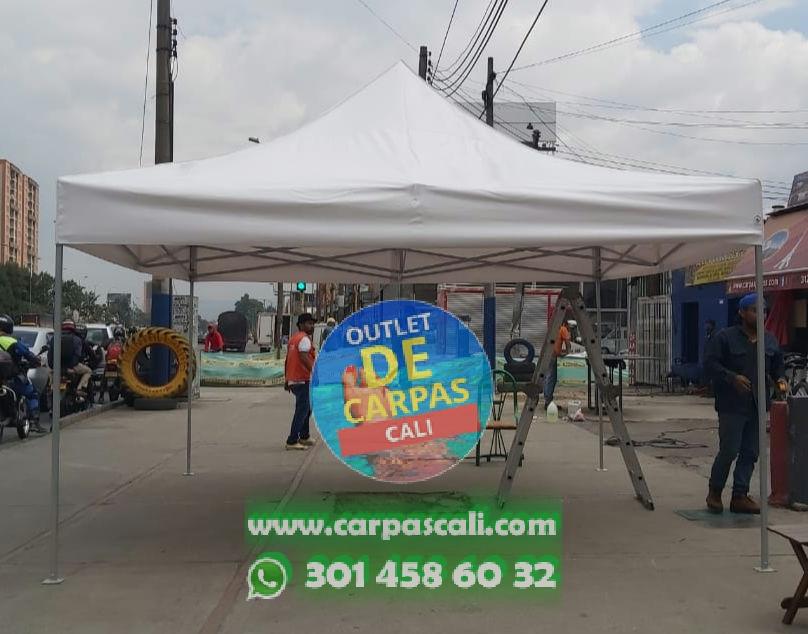 Carpa Plegable 4×4 con Lona PVC de Fabricación Nacional (Colombiana)