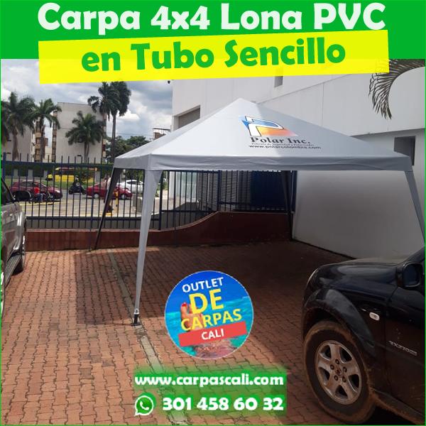 Carpa Toldo Parasol Lona Verano PVC 4x4 Mts