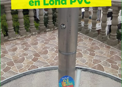 Sombrilla Parasol en Lona PVC