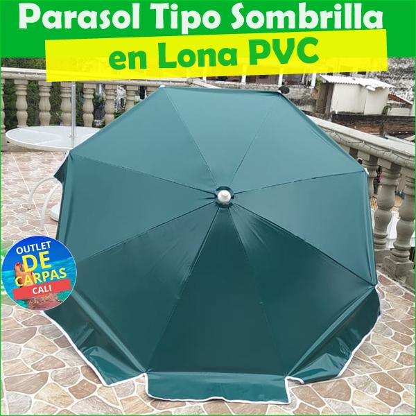 Sombrilla Parasol en Lona PVC de Alta Resistencia